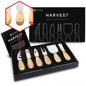 HARVEST Premium 6-Piece Cheese Knife Set