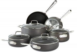All-Clad E785SC64 Hard Anodized Cookware Set