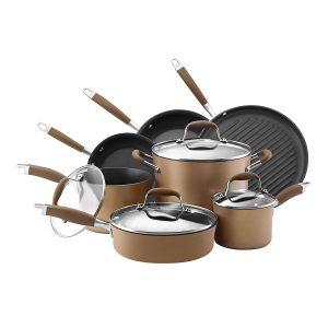 Anolon Advanced Bronze Hard-Anodized Non-stick 11-Piece Cookware Set