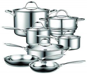 Cooks Standard NC-00232 12-piece multi-ply clad cookware set