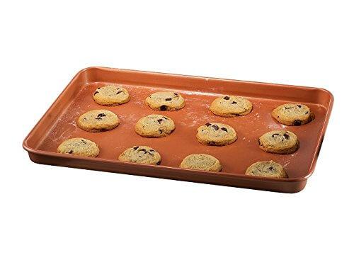 Gotham Steel Nonstick Copper Cookie Sheet & Jelly Roll Baking Pan