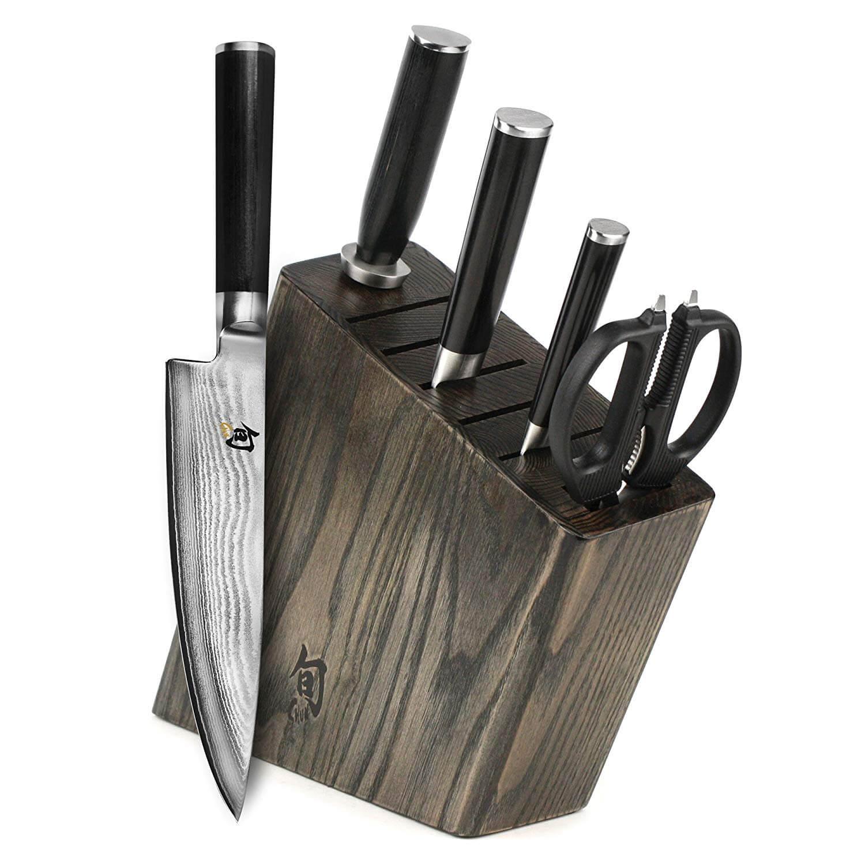 Shun Classic Slim Knife Block Set