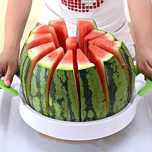 """FEENM Watermelon Slicer 15"""" Large Stainless-Steel Fruit Melon Slicer"""
