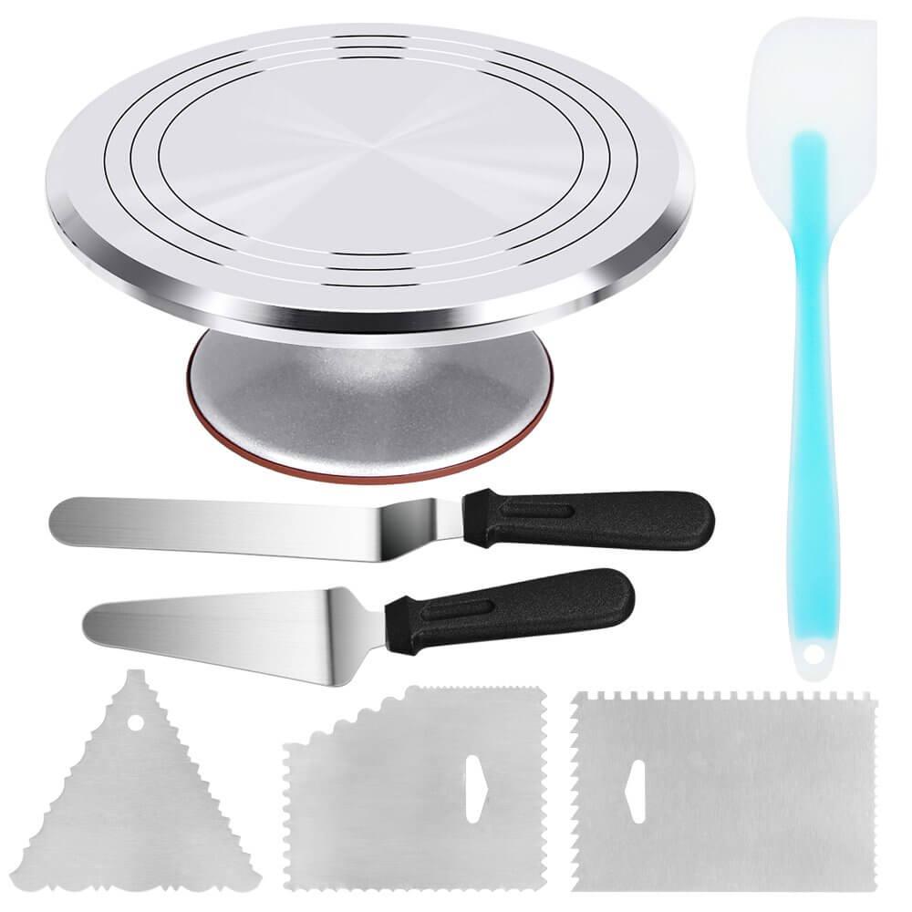 Kootek aluminum alloy revolving cake turntable