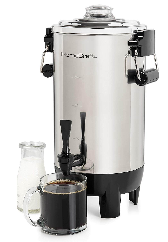 Nostalgia HomeCraft CU30SS Quick-Brewing Automatic Coffee Urn