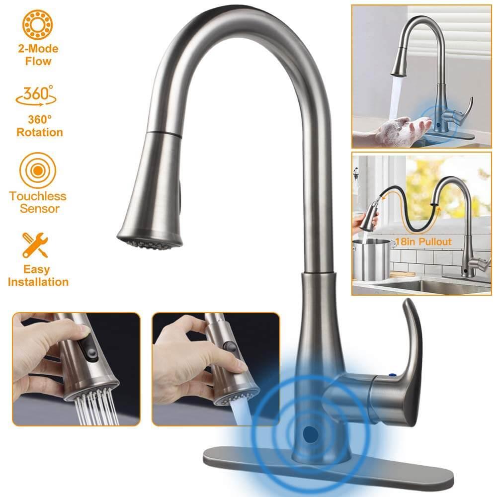 KALUOLA Touchless Kitchen Sink Faucet