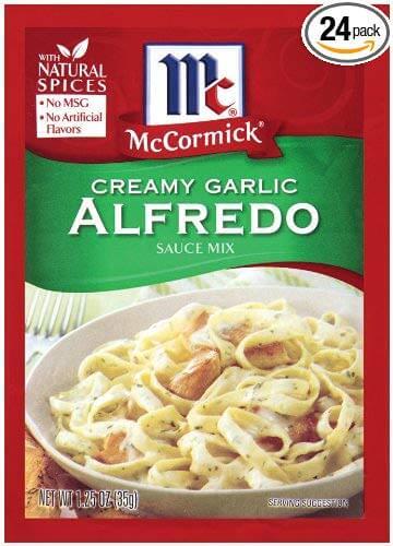 McCormick Pasta Sauce Blend – Creamy Garlic Alfredo