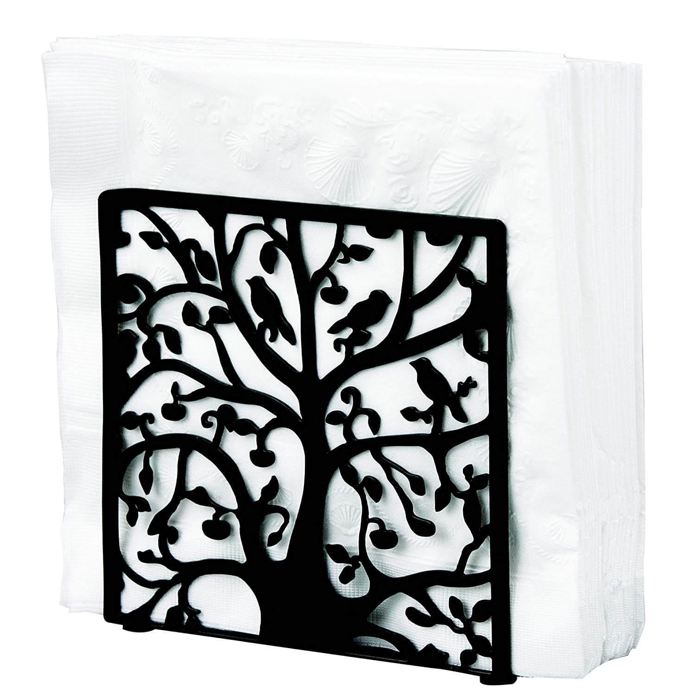 MyGift Metal Tree & Bird Design Tabletop Napkin Holder
