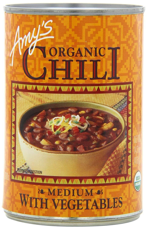 Amy's Organic Chili with Vegetables, Medium